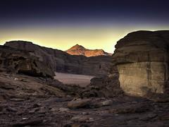 Wadi Rum sunset landscape (Luc V. de Zeeuw) Tags: sunset mountains rock sand sandstone rocks desert wadirum jordan granite aqaba valleyofthemoon nabateans