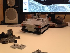 Finally completed. (Retroshark) Tags: tank lego military vehicle custom apc armadillo armour moc cv90 uploaded:by=flickrmobile flickriosapp:filter=nofilter