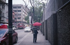 (vaneza nicole) Tags: red people color film 35mm person philippines manila konica 35mmphotography filmphotography konicac35ef