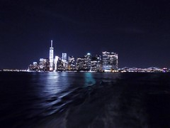 Amazing view from the boat. NYC  (spinellimirko) Tags: newyork skyline night amazing view manhattan freedomtower nybynight