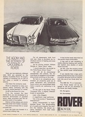 Rover 1970 (Runabout63) Tags: rover advert