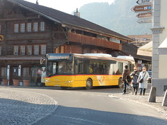 Interlaken Postbus (deltrems) Tags: bus public transport service vehicle interlaken switzerland swiss berner bernese oberland postbus post horn postauto