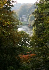 Stourhead (janroles) Tags: outdoor garden nationaltrust canoneos400d foliage water lake colours serene nature trees plants leaves england wiltshire landscape flickr october fall season building colour