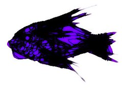 purple fish (Drew Daves) Tags: handdrawn sketch skin scales fins cream