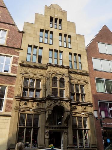 Maison Renaissance, Spiekerhof, Münster, Rhénanie-du-Nord-Westphalie, Allemagne.