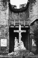 INRI (Roj) Tags: religion stmichaelscatholicchurch canon5dmkiv inri church crucifixtion townwalls canonef40mmf28stm mono marble originalphotographers photographersontumblr sourcerojsmithtumblrcom bw blackandwhite monochrome