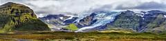 Skaftafellsjökull and Svinafellsjökull (2), Iceland (dejott1708) Tags: iceland ísland panorama skaftafellsjökull svinafellsjökull vatnajökull glacier mountains clouds