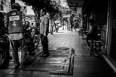 4 III | Bangkok 2016 (Johnragai-Moment Catcher) Tags: people photography momentcatcher monocrome juxtaposition blackwhite blackandwhite bangkokstreet johnragai johnragaiphotos johnragaistreet johnragaibw olympus omdem1 omd decisivemoment