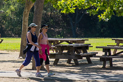 Women Walking in Vasona Lake Park (donjd2) Tags: california unitedstates losgatos jogger vasonalakepark