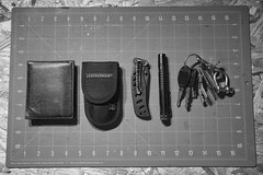 EDC (Voluntary Amputation) Tags: leatherman keys wallet knife flashlight 511tactical
