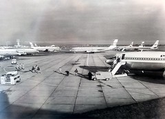 Shannon Airport ramp scene (Flame1958) Tags: ireland samsung shannon boeing 707 douglas panam aerlingus twa dc8 boeing707 aircanada shannonairport transworldairlines