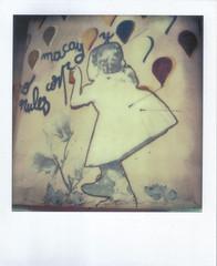 Graffiti - Purisima 167 II (hikaru86) Tags: chile santiago slr vintage project polaroid sx70 graffiti stencil mural arte jordan cielo instant abierto 690 70 86 680 sepulveda impossible hikaru sx cámara callejero instantanea hikaru86 jordansepulvedalazo