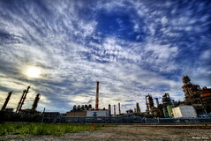 HDR Photo: Sky and Factory (uemii2010) Tags: japan clouds industrial factory hdr kawasaki canonefs1022mm nd400 photomatix hdrphotography technoscape hdrjapan canoneos7d topazadjust hdrphotographers