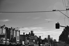 DSC_0012 [ps] - Far From Twickenham (Anyhoo) Tags: sky urban blackandwhite bw skyline architecture facade terrace victorian australia melbourne victoria richmond vic streetscape pediment faade greyscale cornice bridgeroad anyhoo photobyanyhoo