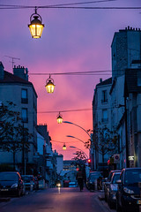 Montrouge sunrise / lever de soleil Montrougien (olivier.jeannin) Tags: street sky color colors twilight colorful couleurs ciel rue crpuscule efs1785mmf456isusm iso1600 montrouge canoneos40d olivierjeannin