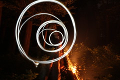 Circles (stackystick) Tags: camping light camp fire circles creepy tuxedo