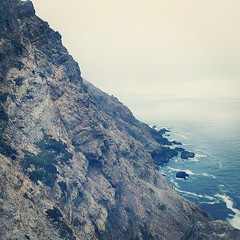 The coast. (donovanbeeson) Tags: sea cliff rock fog foggy pacificocean pointreyes inverness