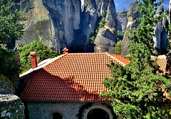 Meteora, Greece, 2009 (Katrine Hansen 21) Tags: africa street travel england people india colour art nature birds animals architecture portraits children ecuador asia cambodia skies character wildlife goa scenic festivals culture kerala malta lo vietnam safari greece temples darlington seychelles zanzibar laos maldives madagascar swaziland phones rajasthan park mozambique seas swaledale rallies black white bay south angkor wat harley davidson islands sri lanka back africa halong bikes cave motor mahal tamil nadu kruger kung galapagos pradesh uttar taj packing