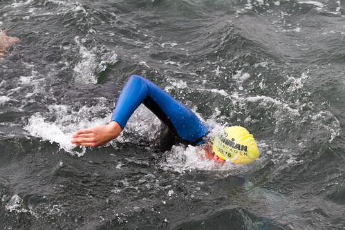 Freestyle ironman swimming
