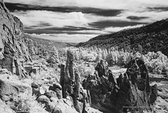 Bandelier National Monument, New Mexico (jev) Tags: family blue blackandwhite bw white newmexico nature ecology rock landscape scenery rocks spectrum pueblo wide surreal super land infrared environment environmentalism infra petroglyphs ecosystem losalamos dwellings digitalinfrared bandeliernationalmonument avenon leicam8 06000000 06007000 leicaimages wwwartqcom