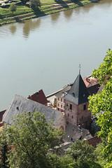 Flussromantk (gripspix (OFF)) Tags: castle church germany hessen kirche neckar burg hirschhorn deutscland 20130821 perledesneckars