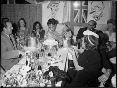 Film star Sabu's 21st birthday, Roosevelt Nightclub, Kings Cross, Sydney, 25 January 1945 / photographer Sam Hood