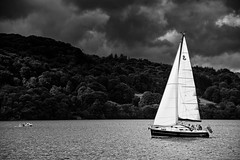 Ambleside_SCB7353 (Steve Bark) Tags: bw white lake black water sport mono boat nikon sailing district full frame sail grayscale fx ambleside windermere dingy greyscale d700