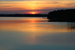 Sunset silence (Sam0hsong) Tags: sunset day cloudy northcarolina lakecrabtree