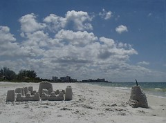 A mans home is his castle... (Shelby's Trail) Tags: sea vacation sky castles beach water clouds landscape sand salt ftmyers fineartphotography ♥ thesundaychallenge