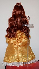 Belle and the Beast Doll Set - Disney Fairytale Designer Collection - US Disney Store Purchase - First Look - Deboxed - Belle on Display Stand - Full Rear View (drj1828) Tags: us belle beast purchase beautyandthebeast disneystore firstlook dollset deboxed disneyfairytaledesignercollection