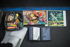 chalk used for street art (Jonathan!) Tags: california usa streetart marin jonathanclark bayarea sanrafael