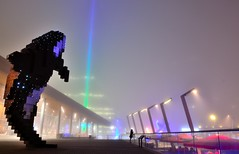 The Orca and I in the fog. (jlee31180) Tags: fog vancouver conventioncentre digitalorca