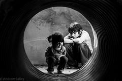 Tunnel Children #2 (krathognis) Tags: portrait blackandwhite gardens digital children zoo blackwhite louisiana pentax monroe purchase k5 pentaxart