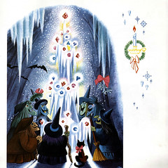 A Christmas Adventure in Disneyland 09 - Witches' Christmas tree (Tom Simpson) Tags: christmas vintage witch disneyland christmastree disney 1958 waltdisney vintagedisneyland vintagedisney disneychristmas