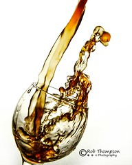 Water Pour (Lumen01) Tags: red water glass highspeed watersplash niksoftware nikcollection