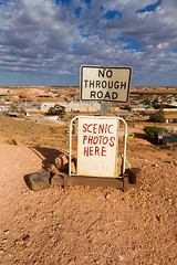 Scenic Photo (mdalmuld) Tags: sign clouds canon scenic australia outback southaustralia cooberpedy nothroughroad canon7d