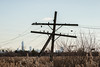 Broken Crossarms (sullivan1985) Tags: new york city lines skyline code wire meadowlands pole