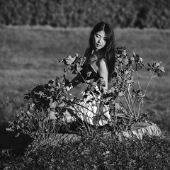 Yifan Noir (PYKtures' Life) Tags: portrait white black fall girl asian nikon noir chinese khong yannick d600 yifan 2013 pyktures