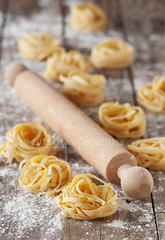 Raw pasta (Oxana Denezhkina) Tags: pasta homemade fresh food flour tagliatelle italian dough rolling table egg spaghetti wooden white healthy meal ingredient cuisine background traditional linguine raw kitchen making noodles cooking wheat preparation pin uncooked closeup yellow gourmet tasty mediterranean preparing culture dinner italy recipe