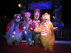 The Country Bears (meeko_) Tags: big al bigal liverlips shaker wendell countrybears countrybearjamboree characters disneycharacters magic kingdom magickingdom themepark mickeys very merry christmas party mickeysverymerrychristmasparty walt disney world waltdisneyworld florida night disneychristmas frontierland
