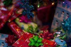 Mum's Christmas Tree (Lady Pandacat) Tags: christmas bokeh peacock christmastree christmaslights ricoh pentaxk100 2013