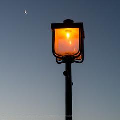 362/365 - Lamp By Moonlight (*ian*) Tags: morning blue light england sky moon lamp silhouette marina square glow unitedkingdom satellite bluesky hampshire luna lamppost crater southampton favourite lunar hythe day362 hythemarina hythemarinavillage project365 bigemrg 3652013