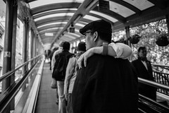 (Ryansly) Tags: street people love zeiss bokeh sony 28mm escalator central streetphotography lie ff partner a7 ze carlzeiss alpha7
