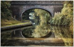 Willday's Farm Bridge   Birmingham & Fazeley canal (lovestruck.) Tags: uk bridge trees summer england nature water reflections geotagged canal arch bricks shrubs towpath midlands inlandwaterway 2013 cy2 birminghamfazeleycanal curdworth geo:lat=5254521072856905 geo:lon=17222732305526733