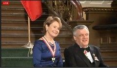 "Penny with Lieutenant Governor, Hon.David Onley, as she accepts her Order of Ontario, Jan. 24th, 2014 • <a style=""font-size:0.8em;"" href=""http://www.flickr.com/photos/21584185@N07/12124189296/"" target=""_blank"">View on Flickr</a>"