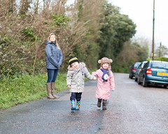 Boy meets Girl - IMG_7993 (s0ulsurfing) Tags: road family winter boy cute canon 50mm parents toddler infant play faces expression walk expressions adorable william mums mum parent isleofwight innocence relaxed infants bobblehat parenting minime fofinho 6d 2014 totland s0ulsurfing familyuk
