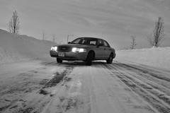 DSC06018 (Drew Z) Tags: blackandwhite bw snow ford ice sony police victoria crown 2007 interceptor p71 a290 201401