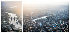 London from the sky (Florens Baan) Tags: bridge light sky sun london tower thames towerbridge plane buildings river airplane photography miniature fotografie small flight londoneye bigben mini aerial lucht flair