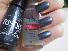 Tatoo + Reflexos Azulados (marianamrr) Tags: nailpolish tatoo unhas risque esmalte colorama copiei reflexosazulados nailpolishland tccolorama