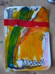 www_KleinkunstKaBeTo 18Feb201411 (wunderwesen) Tags: red orange abstract colour green art yellow collage germany paper drawing cologne karen betty line human tobias mensch zeichnung kleinkunst wunderwesen taschenkunst